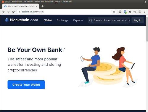 Kjøp bitcoin hos Blockchain.com nettbasert lommebok.